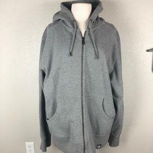 American Giant Gray Zipper Hoodie Size XXL